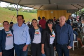 Prefeito Marcos Pacco visita Caravana da Saúde 2019 em Campo Grande
