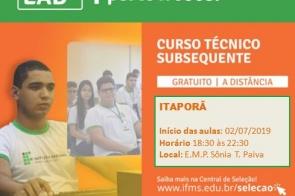 Prefeitura de Itaporã em parceria com o IFMS irá ofertar Curso Subsequente em Administração
