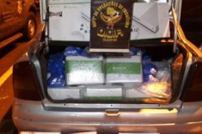 Veículo carregado com contrabando é apreendido na região de Dourados