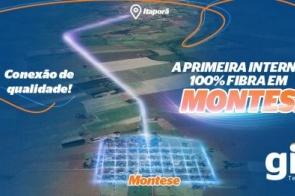 GIS Telecom disponibiliza internet 100%  fibra em Montese