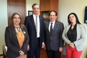 Prefeito Marcos Pacco visita gabinete do deputado Dagoberto Nogueira em Brasília