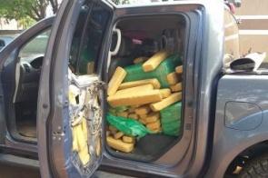 Brasileiro é preso no Paraguai com 827 kg de maconha em caminhonete
