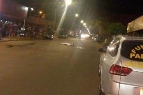 Motorista de caminhão foge após atropelar e matar motociclista