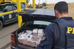 Veículo carregado com contrabando é apreendido