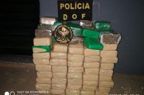 Pálio com placas de Dourados é apreendido com 35 quilos de maconha em Amambai