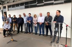 Sanesul inaugura reservatório e município ganha novo sistema de esgotamento sanitário