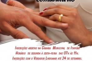 Segunda edição do Casamento Comunitário em Itaporã tem inscrições abertas