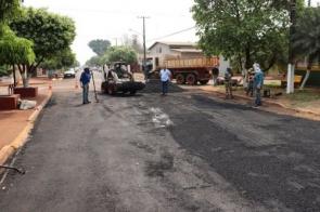 Prefeitura começa os serviços de recuperação da Rua Duque de Caxias