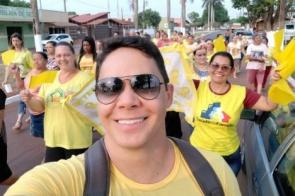 Em Itaporã, a ESF Pioneira realizou caminhada alusiva ao Setembro Amarelo