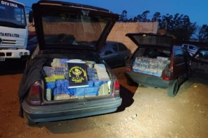 Veículos são apreendidos com mercadoria de contrabando