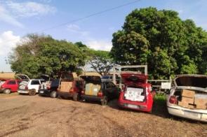Polícia apreende comboio com mercadorias contrabandeadas do Paraguai