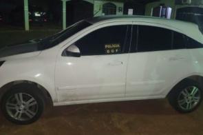 Carro furtado é recuperado pelo DOF em Caarapó