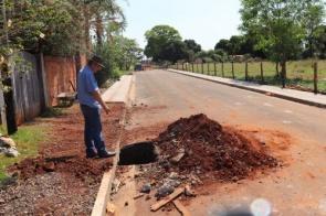 Prefeitura de Itaporã inicia obras de Calçadas e Bocas de Lobo no Jardim Copacabana
