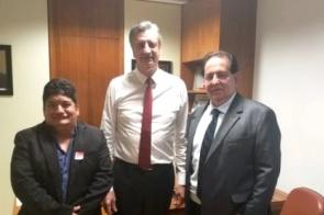 Em Brasília, Pacco é recebido por Dagoberto Nogueira e garante emenda para Itaporã