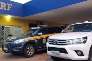 Em caminhonete roubada, mulher é presa pela quinta vez no ano