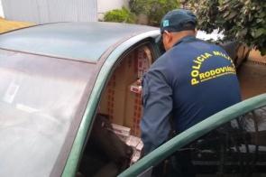 Polícia apreende 15 mil maços de cigarros contrabandeados na MS-379