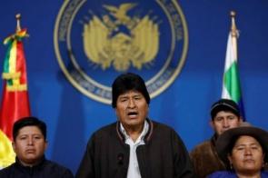 Presidente da Bolívia renuncia ao cargo