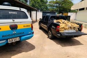 Polícia prende motorista com 732 quilos de maconha em rodovia