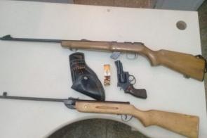 Homem com mandado de prisão em SP acaba preso em MS com armas