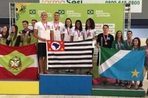 MS fatura mais três bronzes na natação e supera número de medalhas de 2018