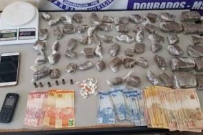 Inteligência da PM prende dois por tráfico no bairro Estrela Tovi