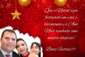 Vereador Lindomar e família deseja Feliz Natal e um Próspero 2020 a todos Itaporanenses