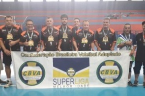 MS traz medalha da final nacional da Superliga de Vôlei Adaptado