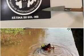 Homem que esfaqueou e abandonou corpo de desafeto no Rio Dourados é preso