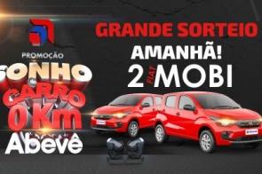 Abevê realiza sorteio de 02 Fiat Mobi 0Km neste sábado (18)