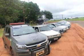 DOF apreende 9 veículos com mercadorias contrabandeadas do Paraguai
