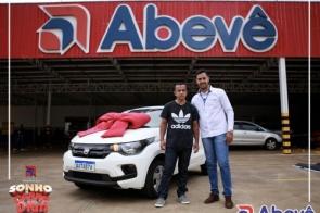 Abevê entrega Mobi 0km a contemplado de Dourados - Campanha Sonho do Carro 0k Abevê.