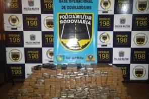 PMR apreende 211 kg de maconha na região de Dourados