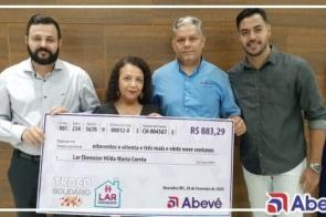 Troco Solidário Abevê repassa valor a instituição