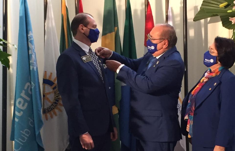 A cerimônia aconteceu na sede do Rotary de Itaporã - Crédito: Luiz Augusto