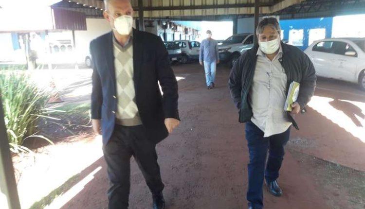 Geraldo, após encontro com Délia sobre pandemia em Dourados. (Foto: Cido Costa).