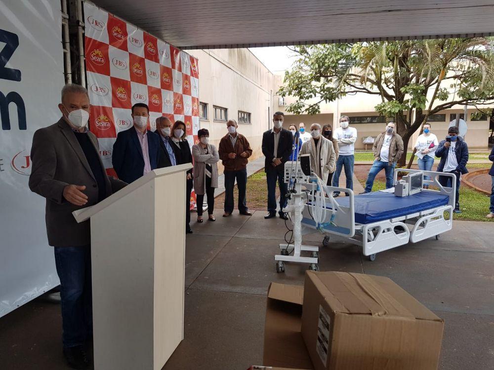 Secretário de Estado de Saúde, Geraldo Resende, esteve em Dourados no sábado - Crédito: Divulgação/SES