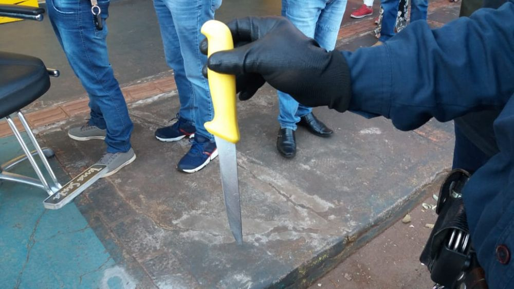 Junior Bittencourt foi atingido com golpe no pescoço - Crédito: Jornal Dourados News