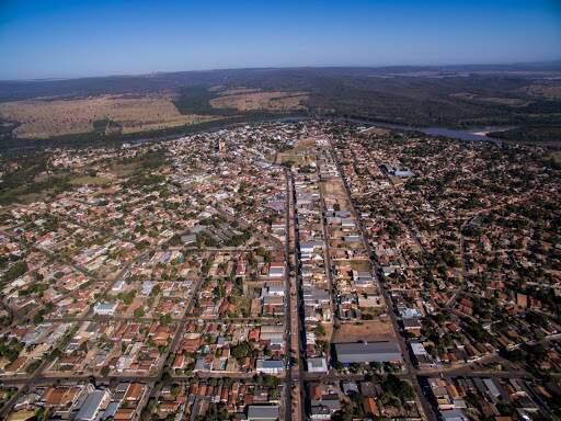 Imagem panorâmica da cidade de Coxim (Foto: Divulgação - Prefeitura de Coxim)