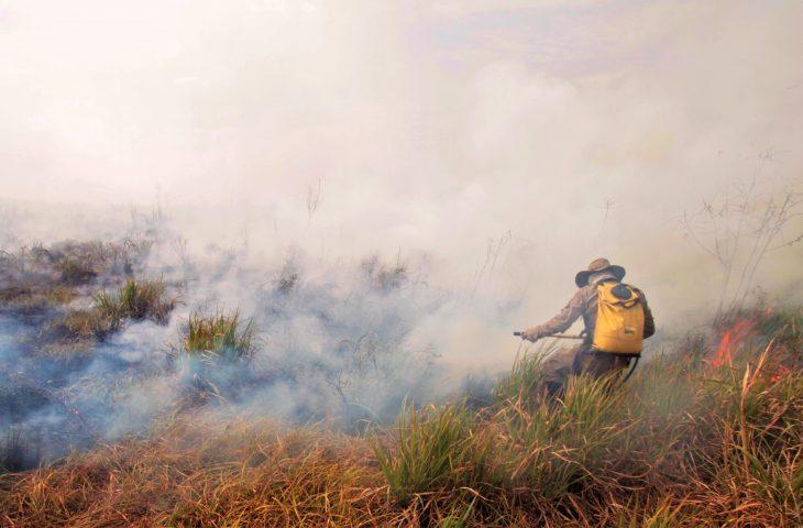 A fumaça proveniente dos incêndios contém diversos elementos tóxicos que agravam doenças respiratórias - Crédito: Saul Schramm