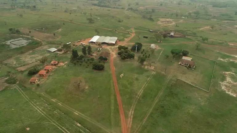 Fazenda Tranquerita, a 60 km de MS, de onde ex-vice-presidente foi sequestrado - Crédito: (ABC Color)