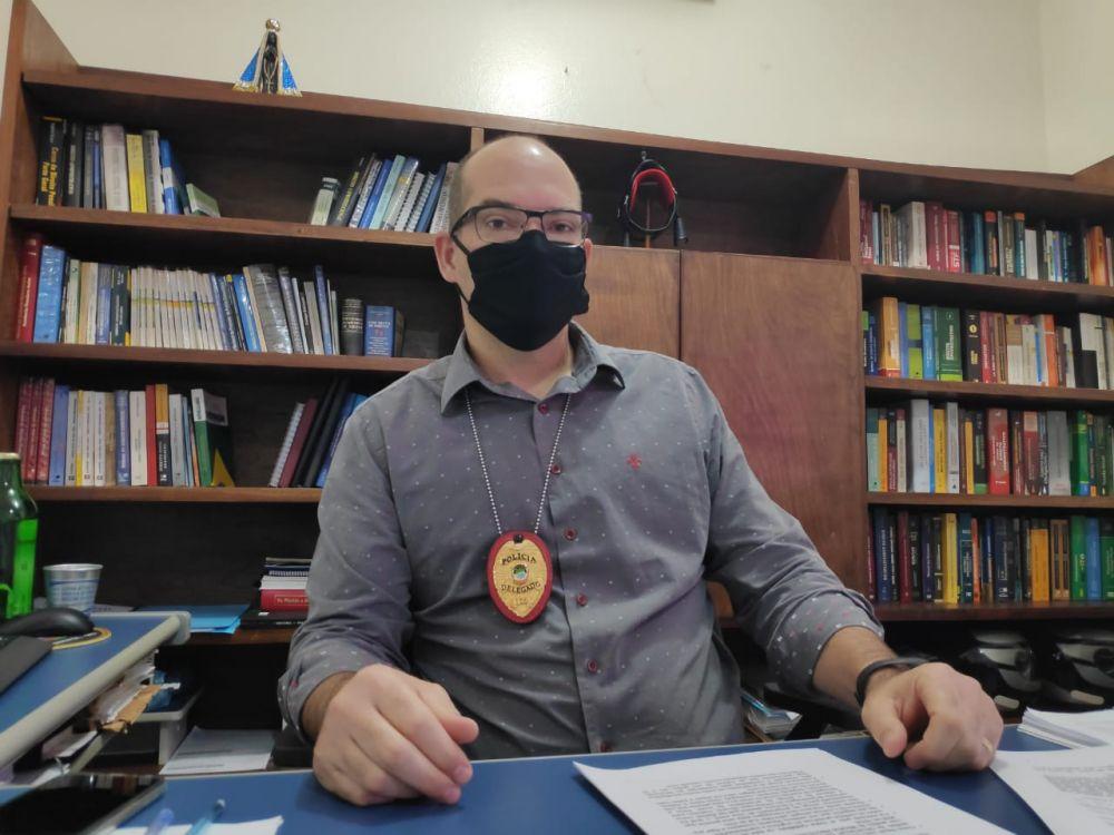 Na imagem, o delegado Adilson Stiguivitis - Crédito: Osvaldo Duarte/Dourados News