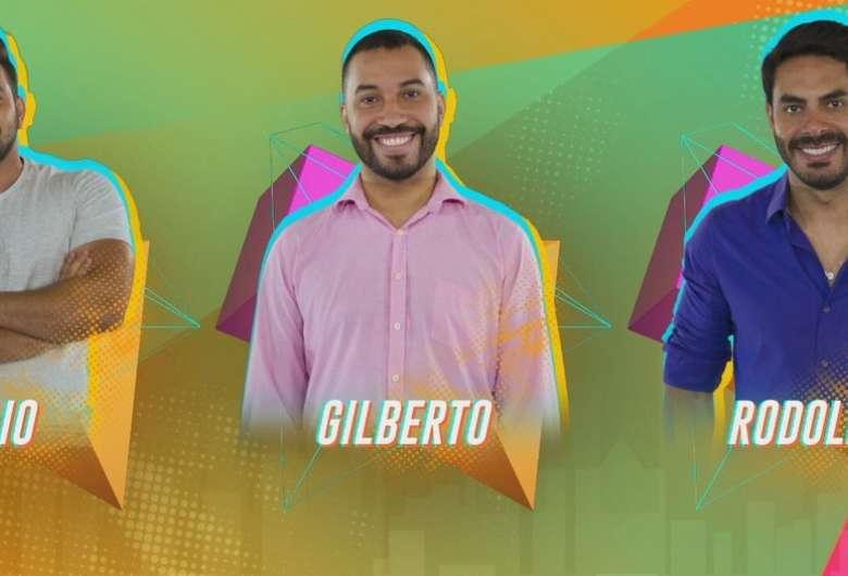 Caio, Gilberto e Rodolffo estão no paredão do 'BBB 21' - Crédito: Reprodução/TV Globo