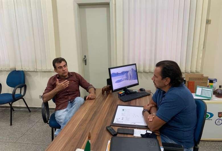 Deputado Marçal e o presidente da Fundesporte, Marcelo Miranda - Crédito: Divulgação