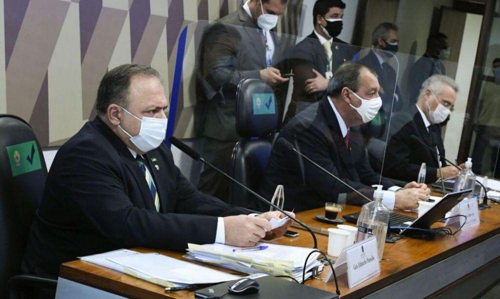 Ex-ministro da Saúde foi o oitavo a prestar depoimento no Senado (Foto: Edilson Rodrigues/Agência Senado)