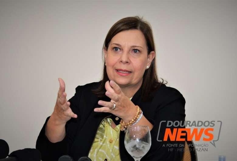 Maria Teresa Belandria segue agenda hoje e amanhã para tratar de situação de imigrantes em Dourados - Crédito: Hedio Fazan/Dourados News