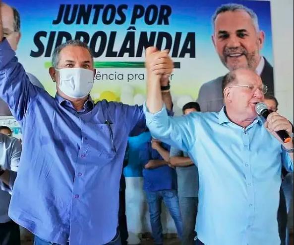 Moacyr (esquerda) ao lado de Enelvo (direita) fizeram campanha juntos por apenas três dias até serem contaminados pela covid-19 (Foto Divulgação)
