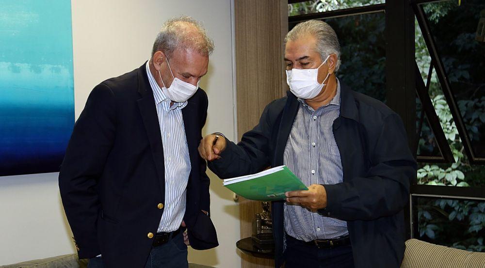 Geraldo Resende e Reinaldo publicaram decreto com medidas mais restritivas no Diário Oficial e sem fazer qualquer comunicado à população (Foto: Arquivo)