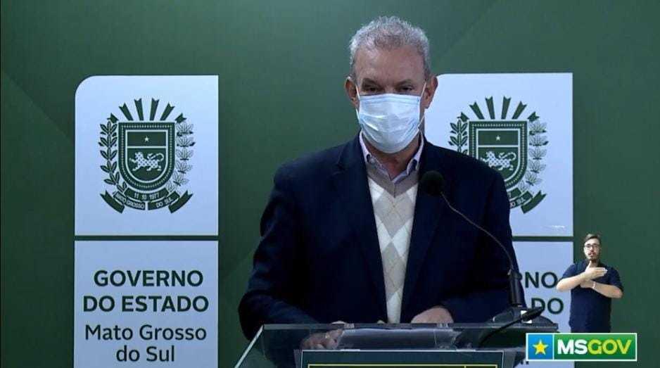 Secretário estadual de saúde, Geraldo Resende, durante live extraordinária para a apresentação do novo prosseguir (Foto: Reprodução)