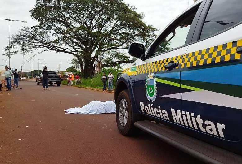Vítima morreu no local do acidente - Crédito: Osvaldo Duarte/Dourados News