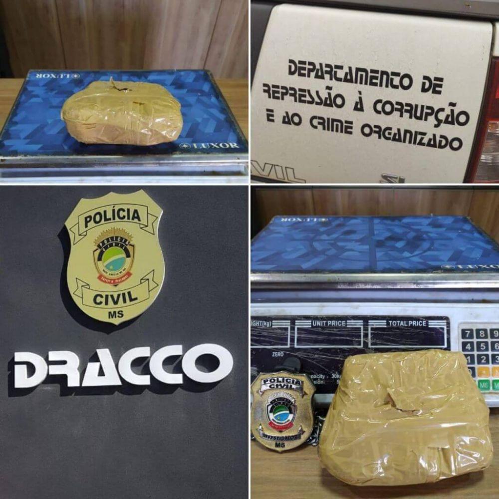 Droga foi apreendida (Foto: Divulgação/Polícia Civil)